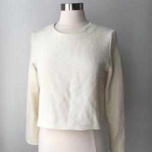 Zara Woman Woven Crop Top Medium